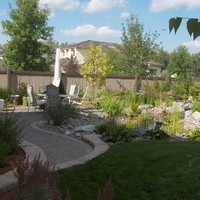 Mature lot garden design plan including patio design and some fantastic garden pictures of flower garden ideas.