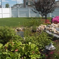 Acreage landscaping ideas with beautiful garden design and flower garden ideas, including some lovely patio design and garden fountains.