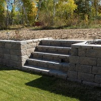 Acreage landscaping design including patio design with walkways and garden pictures.