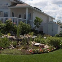 Acreage landscaping ideas with beautiful garden design and flower garden ideas, including beautiful garden fountains.